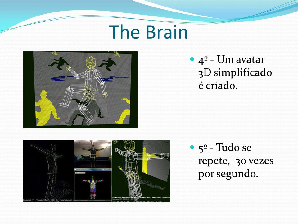 The Brain 4º - Um avatar 3D simplificado é criado.
