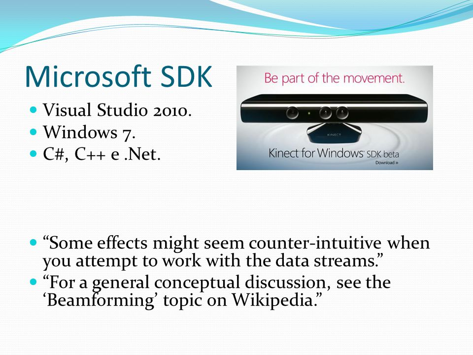 Microsoft SDK Visual Studio 2010. Windows 7. C#, C++ e .Net.