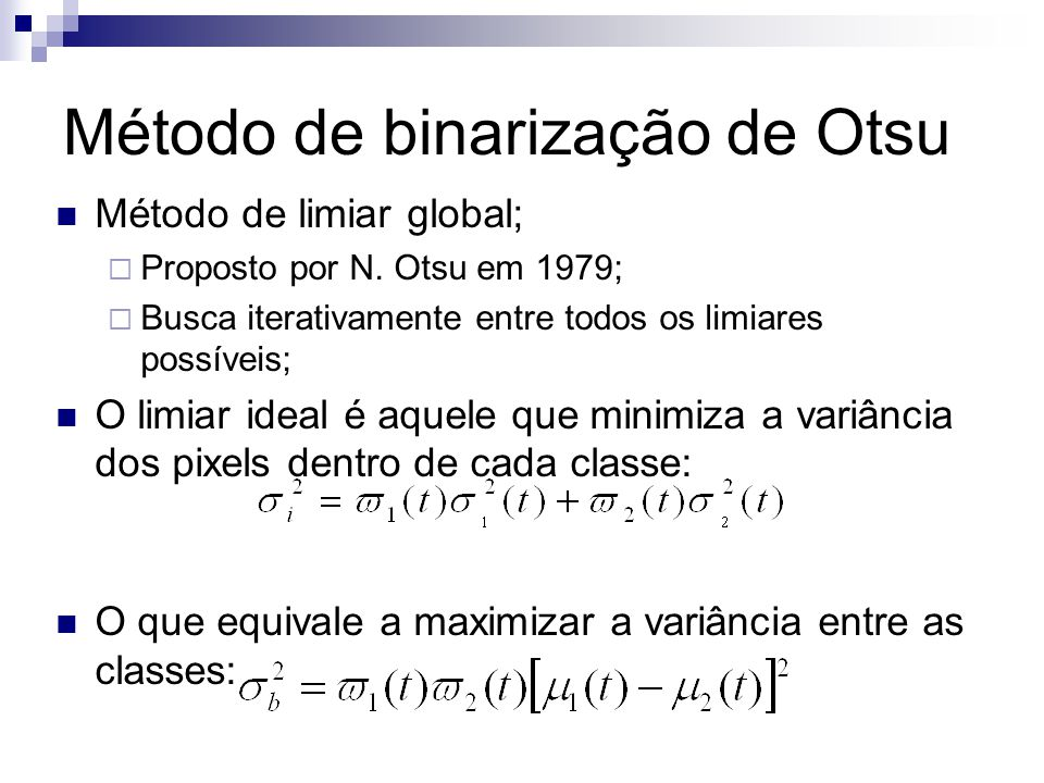 Método de binarização de Otsu