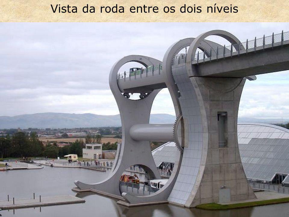 Vista da roda entre os dois níveis