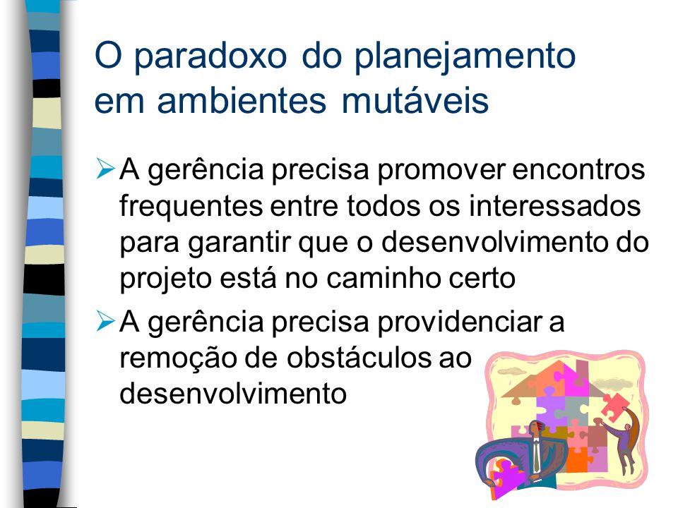 O paradoxo do planejamento em ambientes mutáveis