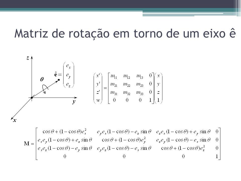 Matriz de rotação em torno de um eixo ê