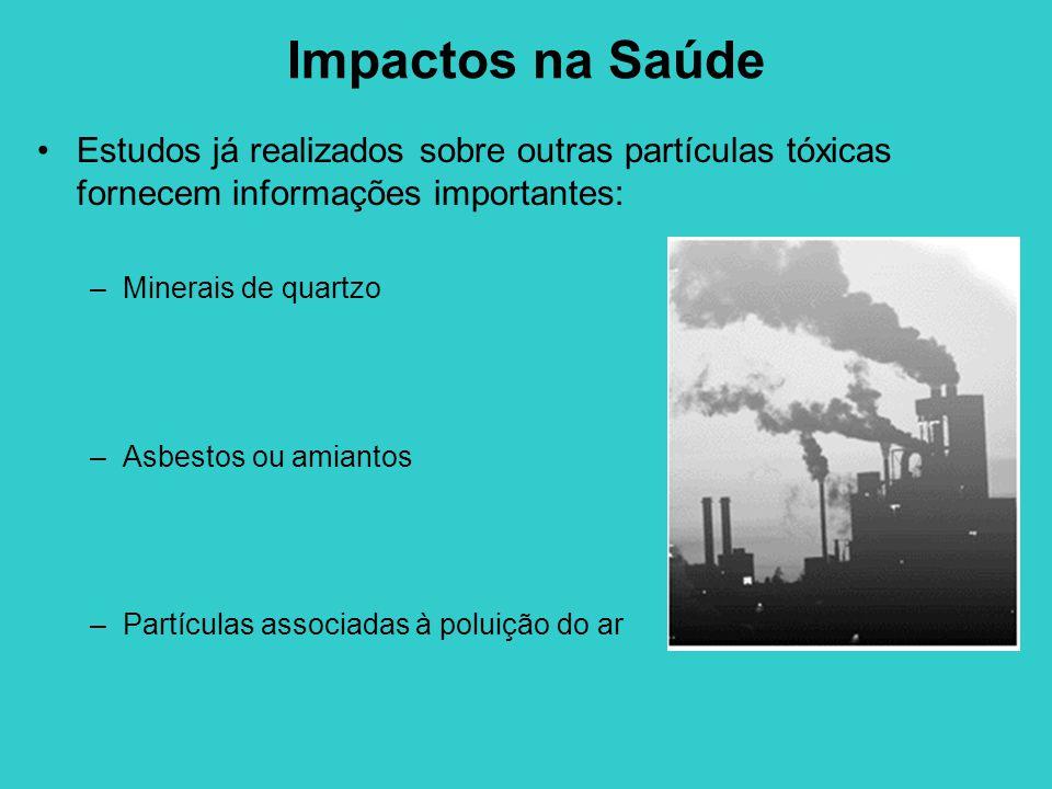 Impactos na Saúde Estudos já realizados sobre outras partículas tóxicas fornecem informações importantes: