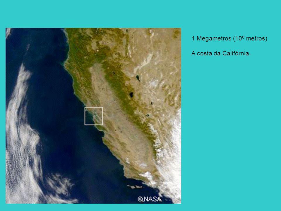 1 Megametros (106 metros) A costa da Califórnia.