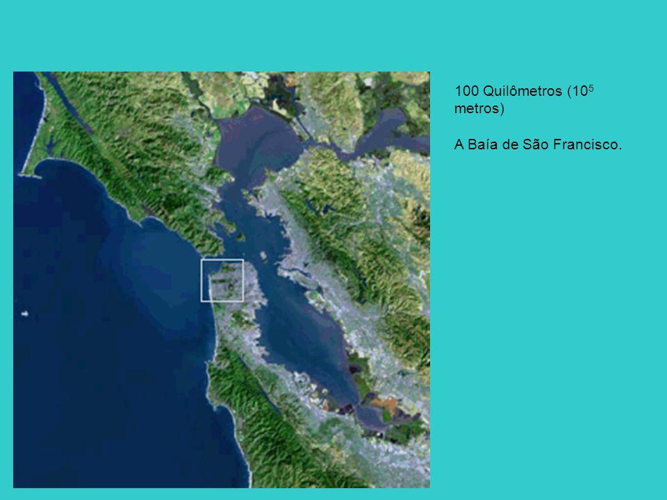 100 Quilômetros (105 metros) A Baía de São Francisco.