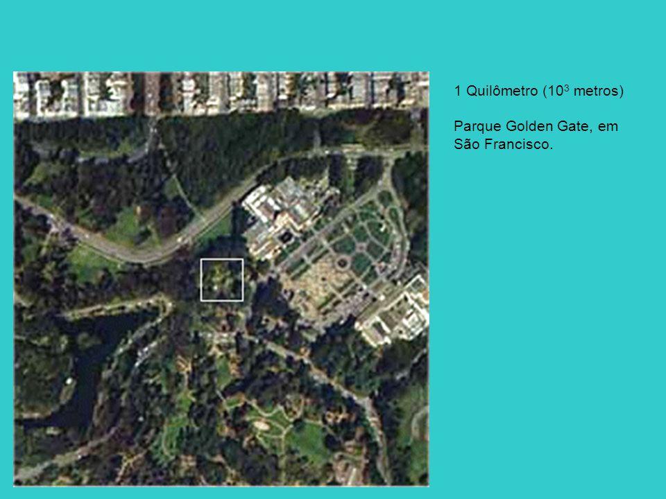 1 Quilômetro (103 metros) Parque Golden Gate, em São Francisco.