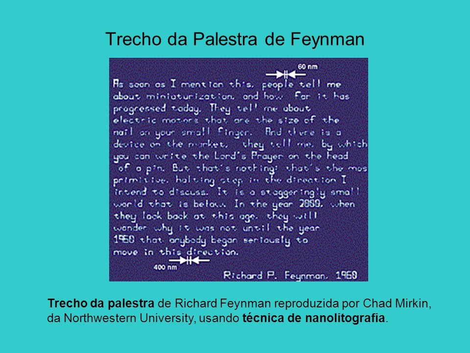 Trecho da Palestra de Feynman