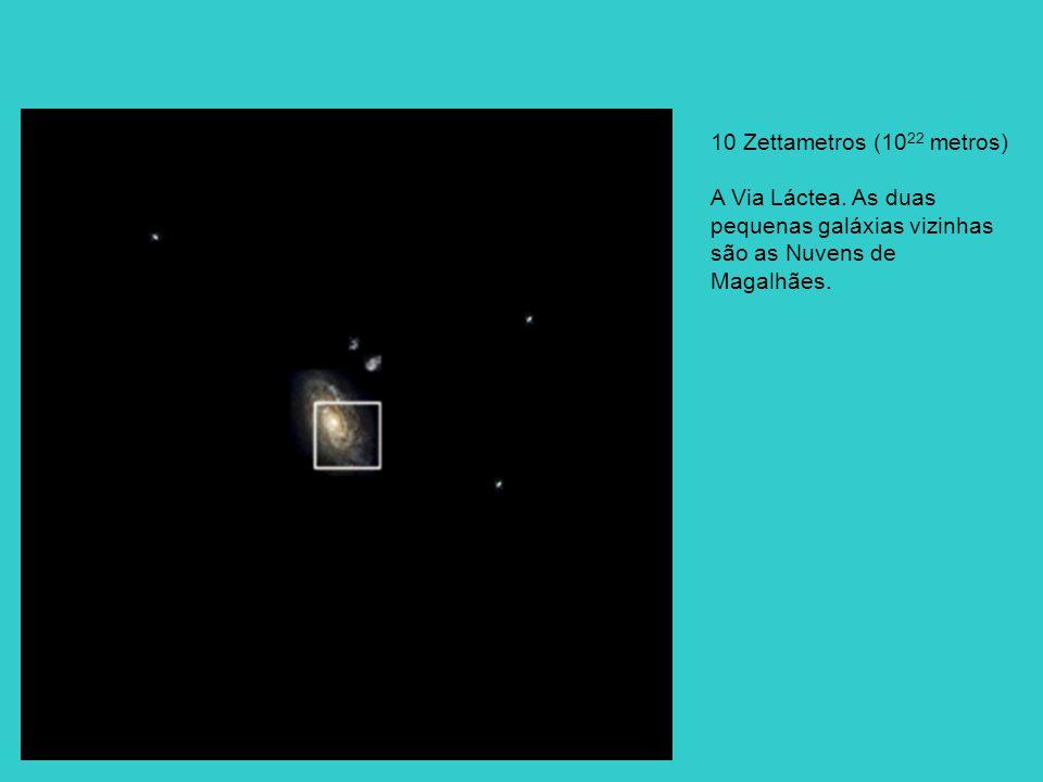 10 Zettametros (1022 metros) A Via Láctea.