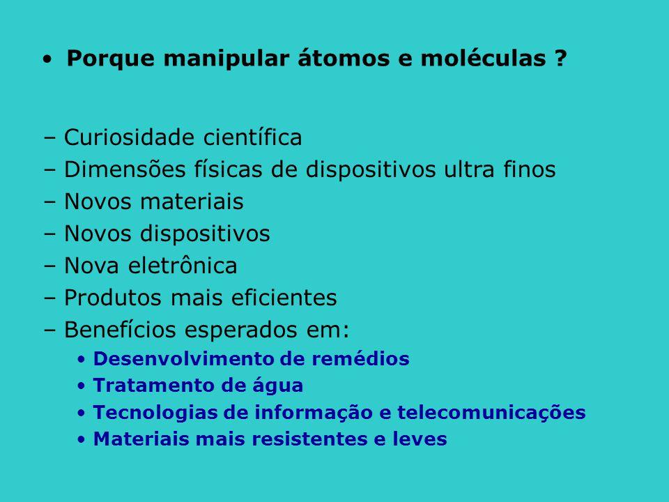 Porque manipular átomos e moléculas
