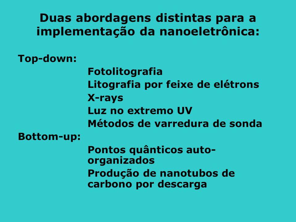 Duas abordagens distintas para a implementação da nanoeletrônica: