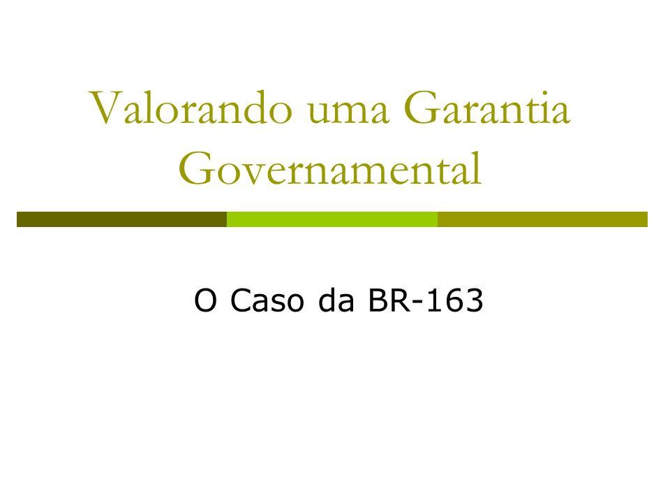 Valorando uma Garantia Governamental
