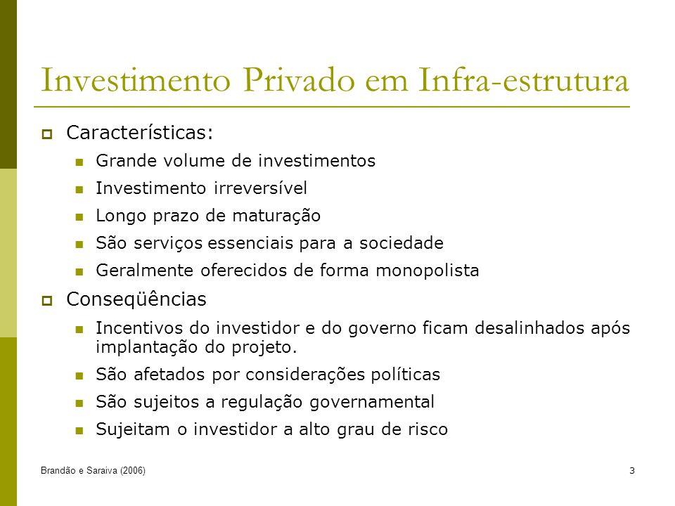 Investimento Privado em Infra-estrutura