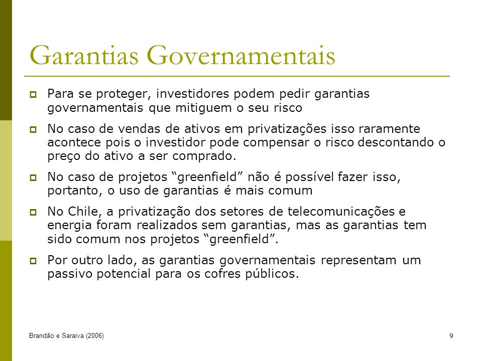 Garantias Governamentais