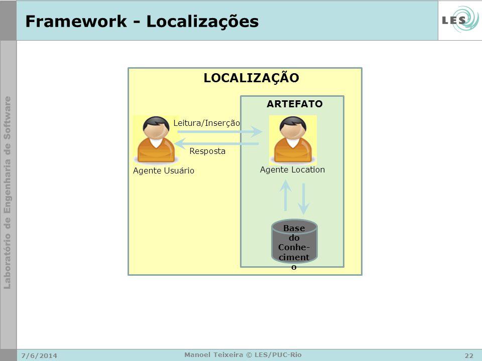Framework - Localizações
