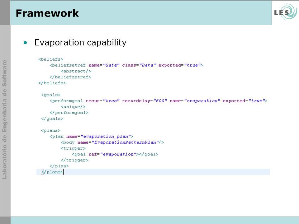 Framework Evaporation capability