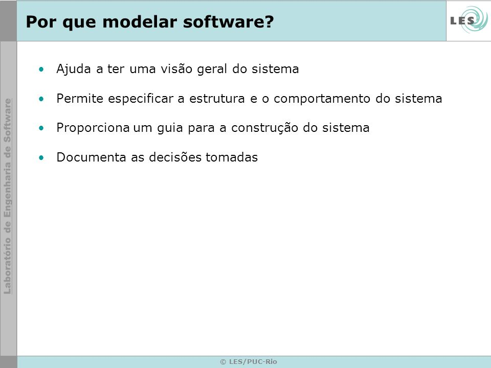 Por que modelar software