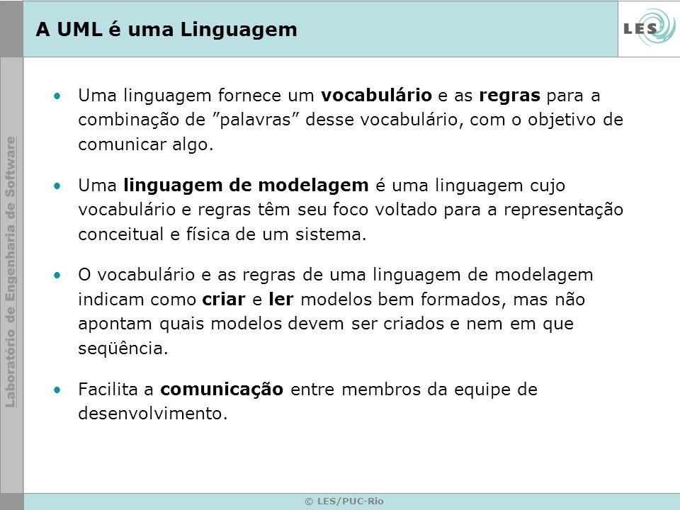 A UML é uma Linguagem