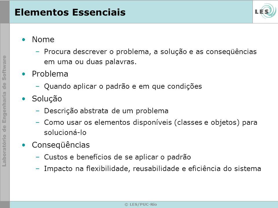 Elementos Essenciais Nome Problema Solução Conseqüências