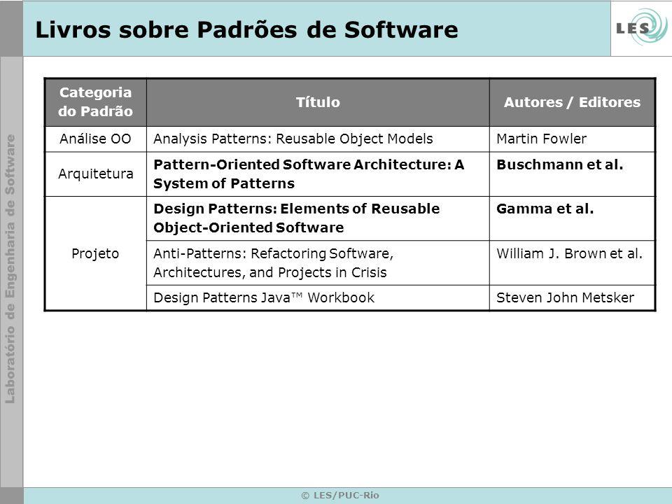 Livros sobre Padrões de Software