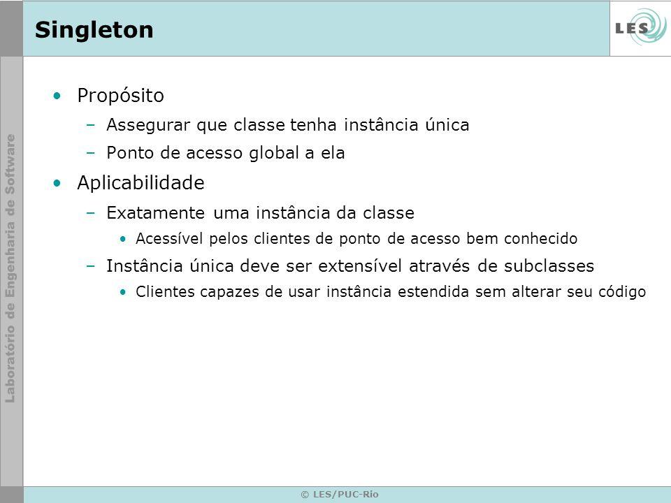 Singleton Propósito Aplicabilidade