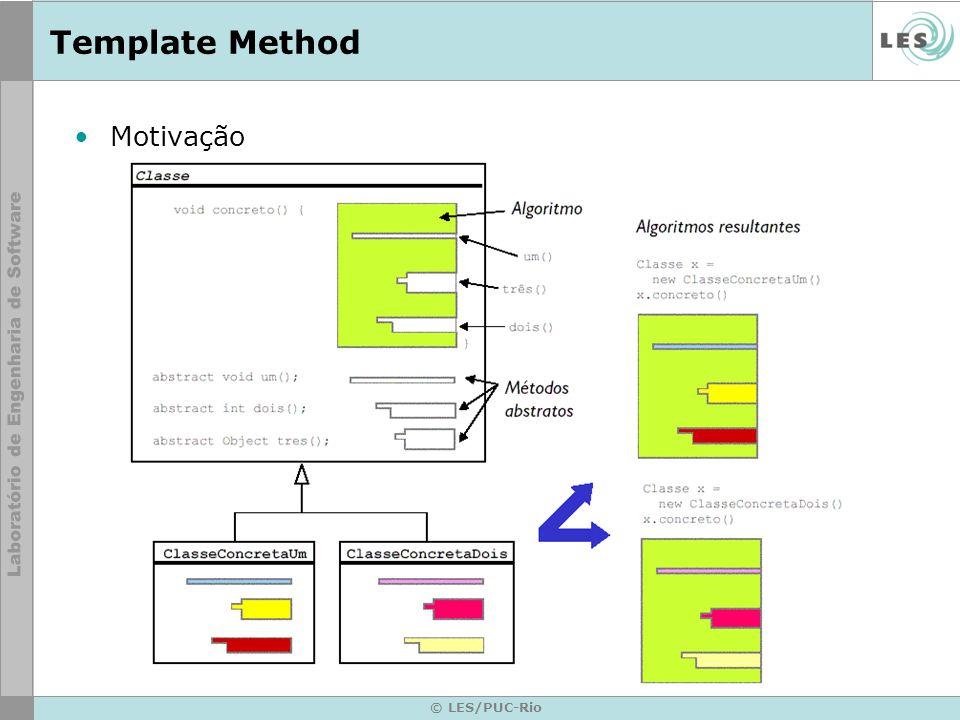 Template Method Motivação © LES/PUC-Rio