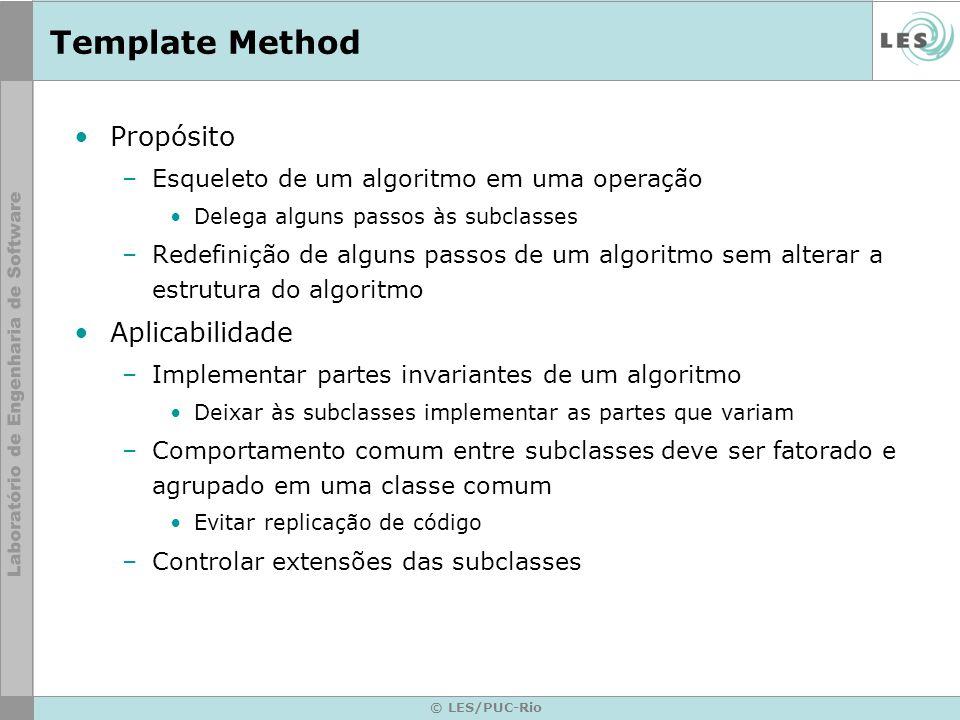 Template Method Propósito Aplicabilidade