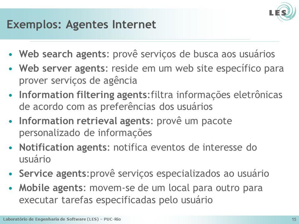 Exemplos: Agentes Internet