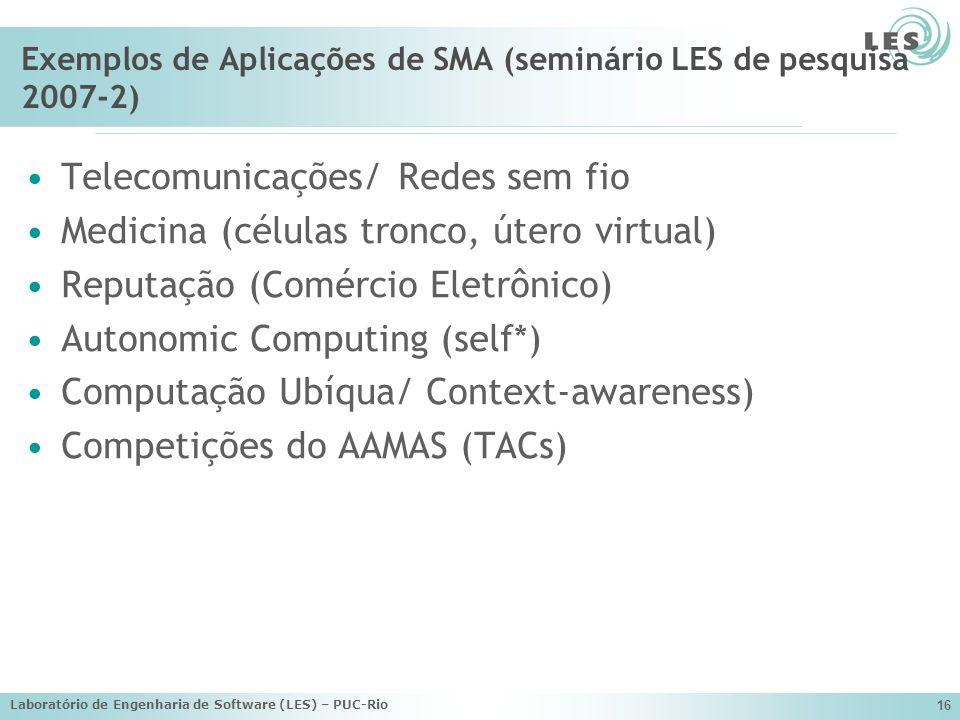 Exemplos de Aplicações de SMA (seminário LES de pesquisa 2007-2)
