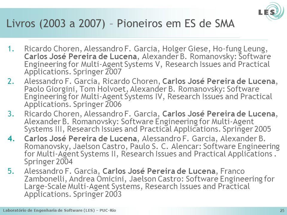 Livros (2003 a 2007) – Pioneiros em ES de SMA