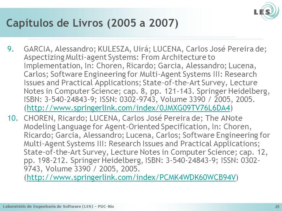 Capítulos de Livros (2005 a 2007)