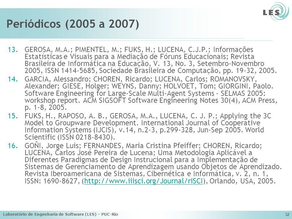 Periódicos (2005 a 2007)
