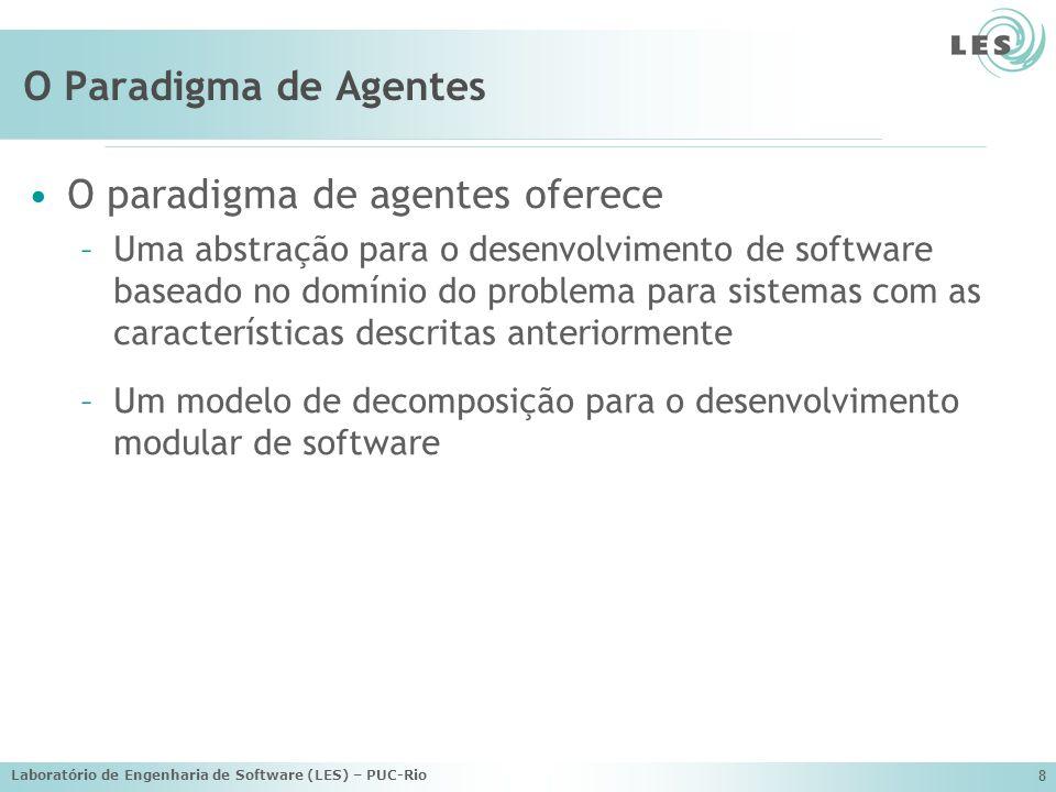 O paradigma de agentes oferece