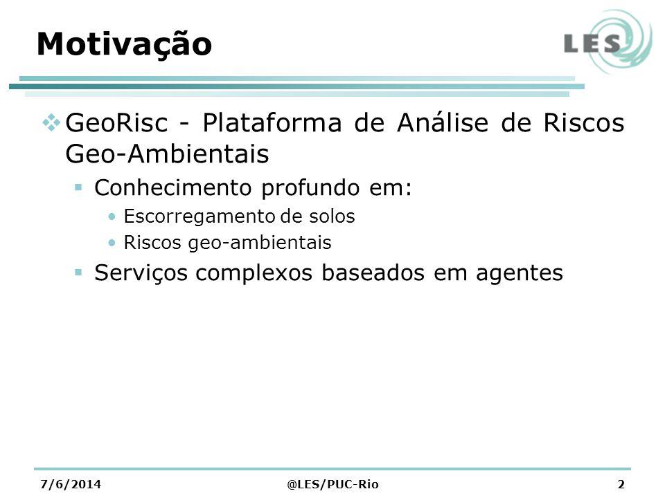 Motivação GeoRisc - Plataforma de Análise de Riscos Geo-Ambientais