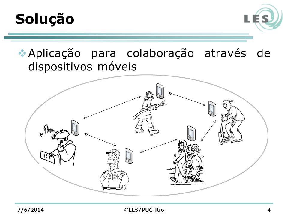 Solução Aplicação para colaboração através de dispositivos móveis