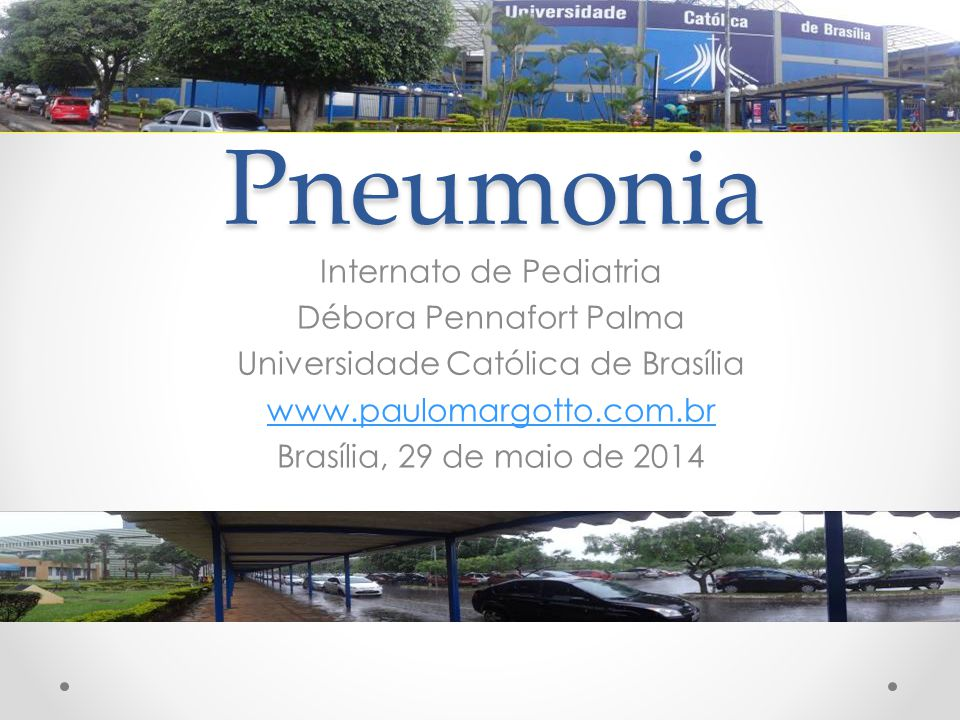 Pneumonia Internato de Pediatria Débora Pennafort Palma