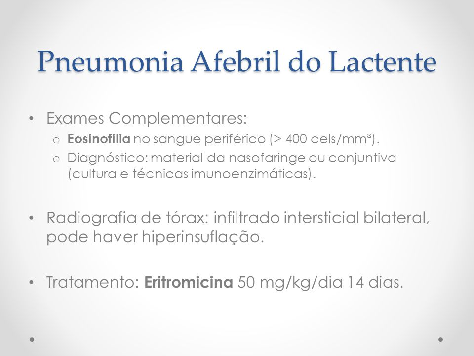 Pneumonia Afebril do Lactente