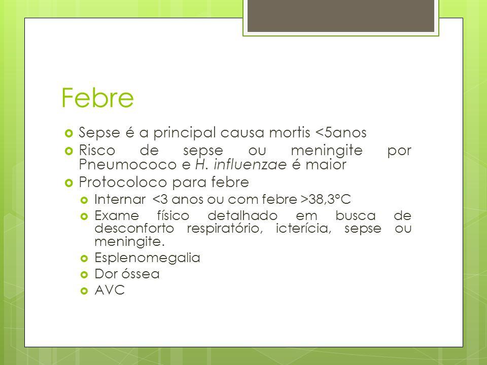 Febre Sepse é a principal causa mortis <5anos