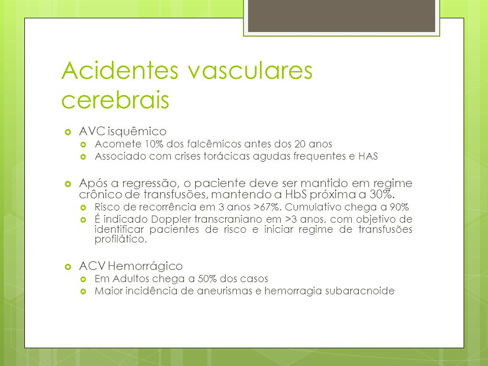 Acidentes vasculares cerebrais