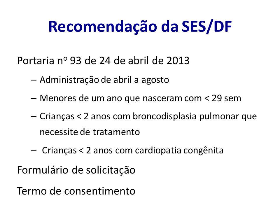 Recomendação da SES/DF