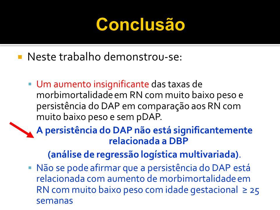 A persistência do DAP não está significantemente relacionada a DBP