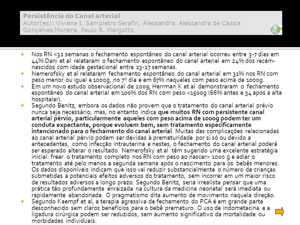Persistência do Canal arterial Autor(es): Viviana I