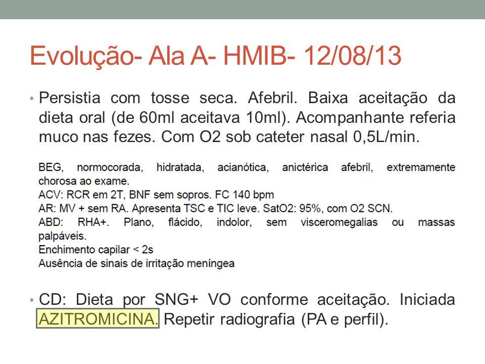 Evolução- Ala A- HMIB- 12/08/13