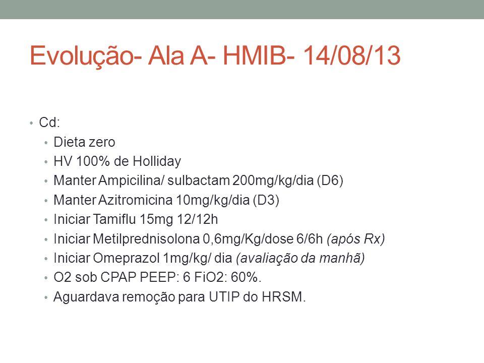 Evolução- Ala A- HMIB- 14/08/13