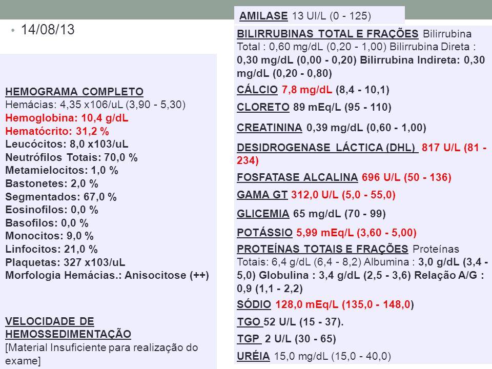 AMILASE 13 UI/L (0 - 125) 14/08/13.