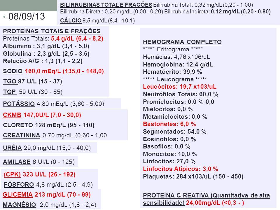 08/09/13 HEMOGRAMA COMPLETO ***** Eritrograma *****