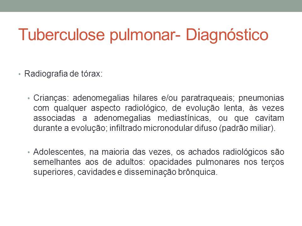 Tuberculose pulmonar- Diagnóstico