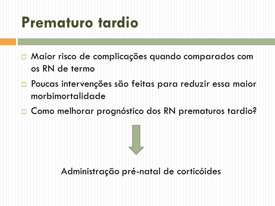Administração pré-natal de corticóides