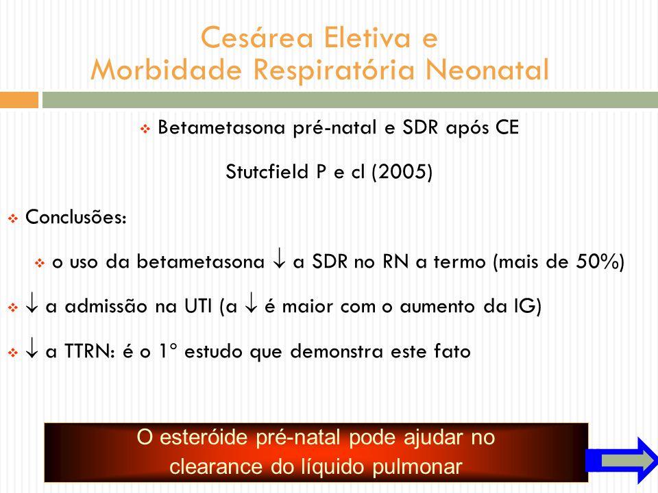 Cesárea Eletiva e Morbidade Respiratória Neonatal