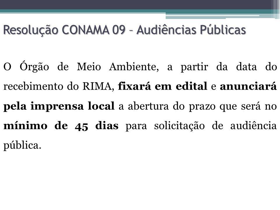 Resolução CONAMA 09 – Audiências Públicas