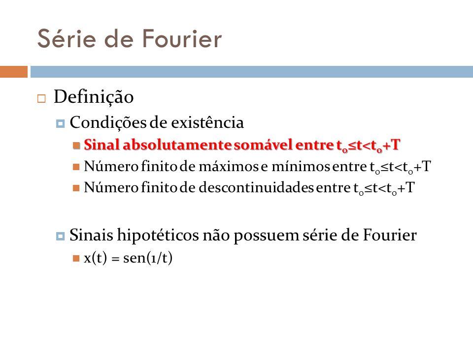 Série de Fourier Definição Condições de existência